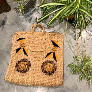 VTG 70s Basket Weave Tote